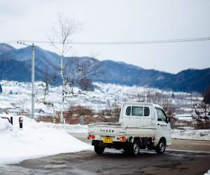 zimowa ciężarówka